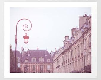SALE Paris photography, canvas art, Paris photo, Paris print, Paris wall art,Paris canvas,Paris architecture, purple violet place des Vosges