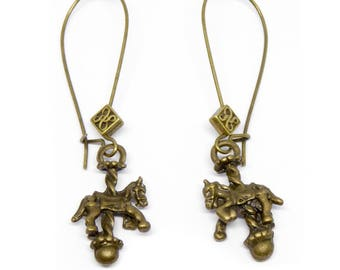 "Bronze steampunk earrings ""Le Manège"""