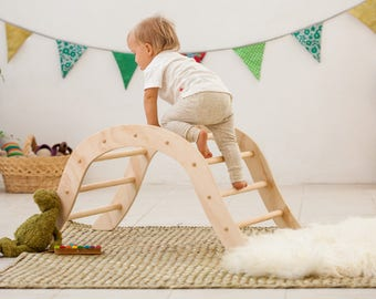 Pikler Climbing Arch for babies  / Pikler inspired Arch / Wiwiurka Climbing Arch /Wooden Climbing Arch