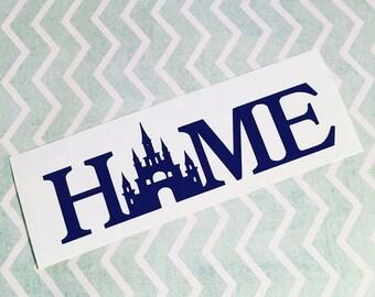 Disney Home Decal, Disney, Car Decal, Laptop Decal, Disney Castle, Home Decal