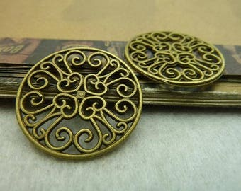 The alloy antique bronze plating flower connector cab setting