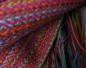 Meditation shawl red mult...