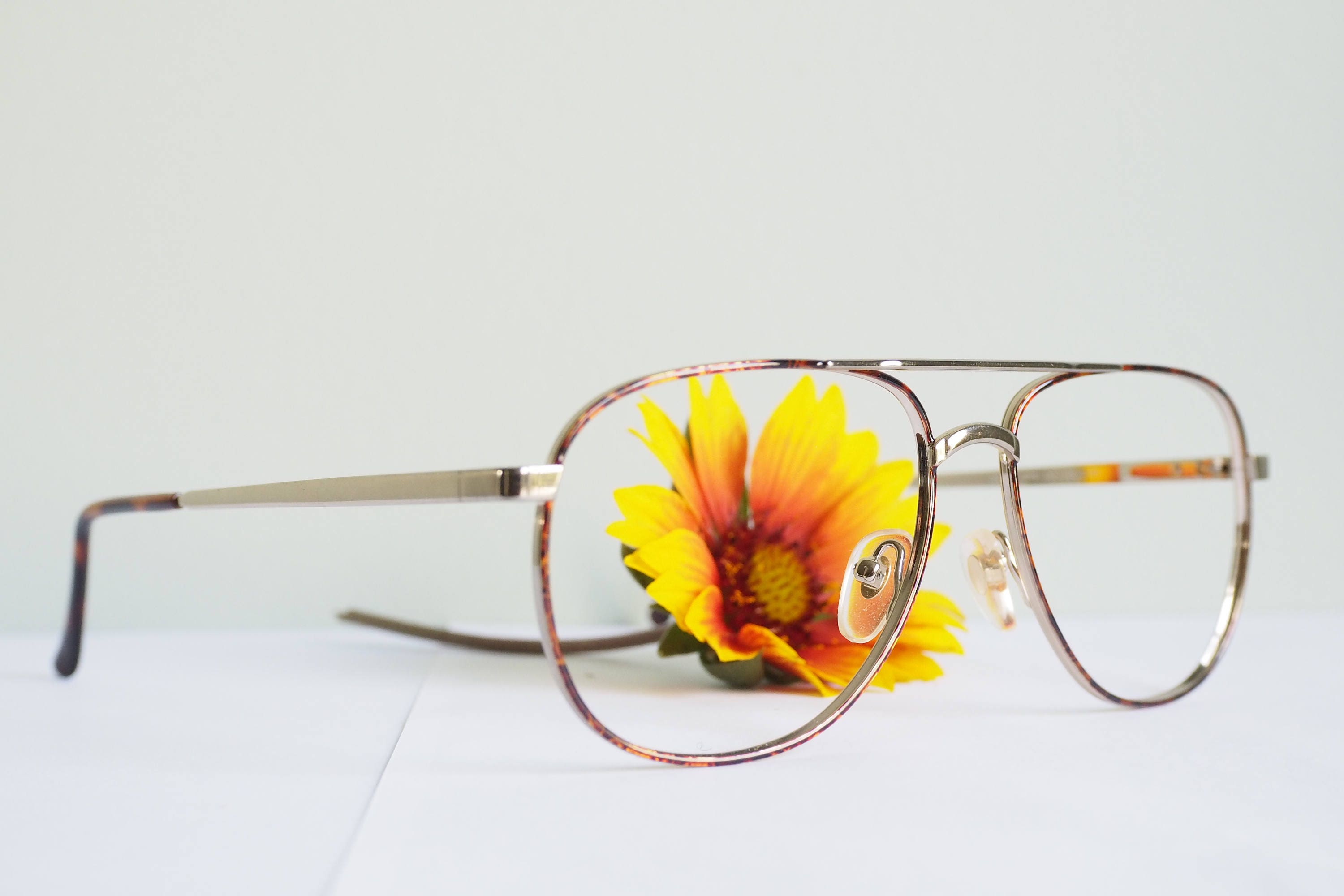 Vintage 1970\'s Aviators By Titmus Brown All Metal Frames New Old ...