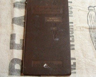 Rare!  1922 Modern Salesmanship Principles & Practice, Winning With Words, Private Edition Self Help Book