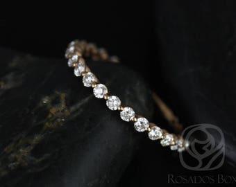 Rosados Box Ready to Ship Petite Naomi/Petite Bubble & Breathe 14kt Rose Gold Diamond ALMOST Eternity Band