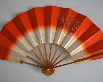 Dance fan, Japanese mai ogi, vintage Japanese maisen hand fan #10