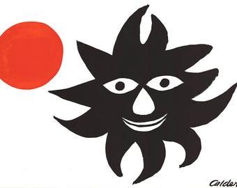 Alexander Calder-Sun and Moon-1968 Lithograph
