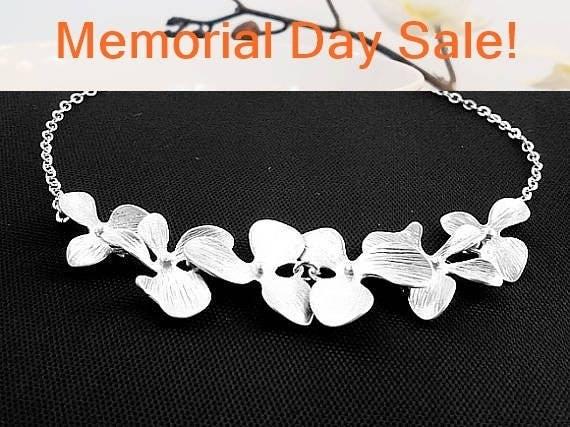 Orchid Flower Wedding Bracelet , Bangle Bracelet,Friendship bracelet, Rose Gold, wedding bracelet,gift for her, braidemaid gift