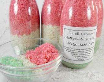 WATERMELON BURST milk bath salts-bath-sea salt-goats milk-relaxation gifts-wholesale bath salts-oatmeal-Christmas gift-gift women-gifts