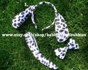 Comfortable Dalmatian Ears Headband - Dog Ears Costume - Halloween Costume - Dalmatian Costume - Dalmatian Ears - NEXT DAY SHIPPING
