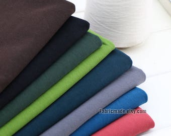 11 Colors Cotton Jersey Knitting Fabric, Baby Jersey Cotton Fabric Grey Black Green Red Brown- 1/2 Yard