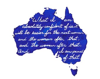 Julia Gillard - And the woman after that - Art Quote Print