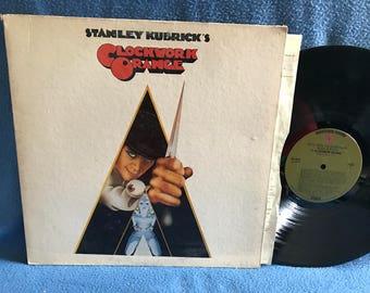 "RARE Vintage, ""A Clockwork Orange"" Original Motion Picture Soundtrack, Vinyl LP Record, Walter Carlos, Ludwig Van Beethoven, Stanley Kubrick"