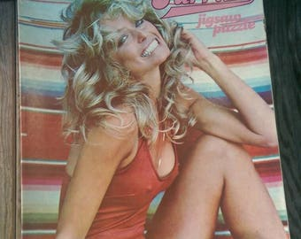 Vintage 1970s Farrah Fawcett Puzzle 405 Pieces Complete Red Swimsuit Image