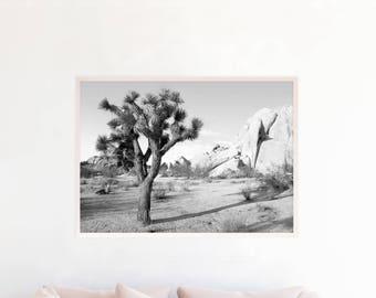 Desert Print, Joshua Tree print, Black and White Cactus Desert Wall Art Desert Printable Joshua Tree Photography Download Southwestern d1bwl