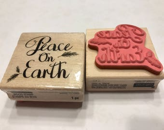 Peace on Earth stamp , 40 mm (BB1/3)