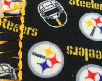 Steelers Fleece Tie Blanket