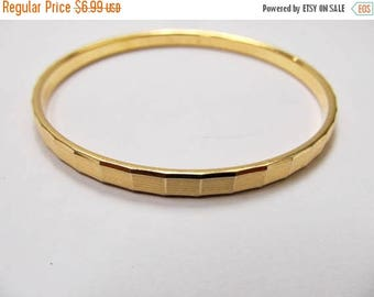 ON SALE MONET Textured Gold Tone Bangle Bracelet Item K # 2596