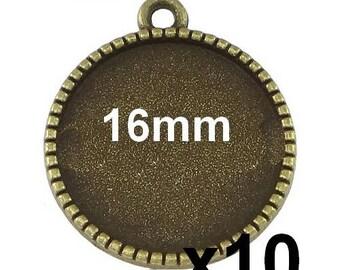 10 blank pendant bronze mod640 16mm cabochon