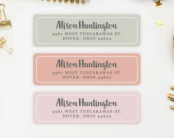 Address Labels / Autumn Colors Personalized Return Address Labels / Custom Address Labels / Address Sticker / Address Label Sticker / Alison