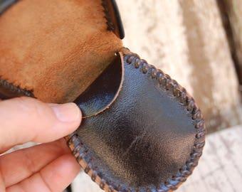 Handmade Leather purse. Arrows leather purse kit. Leather craft purse