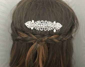 Vintage style hair comb , Wedding hair comb , Bridal hair comb,  Great Gatsby , 1920s Hair Accessories - Nouveau.
