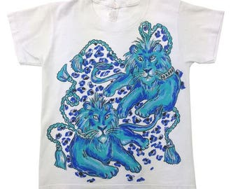 Vintage 80s /glitter Lion T-Shirt | 10-12 Years