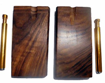 dugout w/ self cleaning one hitter - walnut