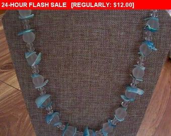 Blue shell bib necklace, vintage necklace, bib necklace, statement necklace, estate jewelry