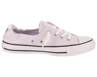 Purple Converse Lilac Lavender Grape Shoreline Slip on Boat w/ Swarovski Crystal Rhinestone Jewel Bling Chuck Taylor All Star Sneakers Shoes
