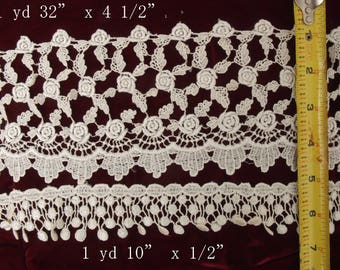 Large lot of Vintage Lace 10 different types