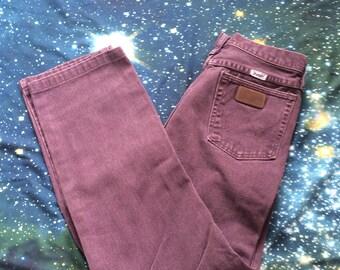 Vintage Wrangler High Waist Purple Denim Jeans