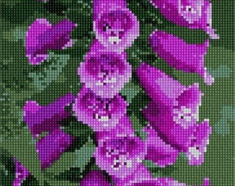 Needlepoint Kit or Canvas: Thimble Foxglove