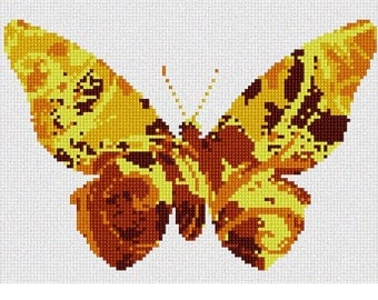 Needlepoint Kit or Canvas: Butterfly Swirls Sun