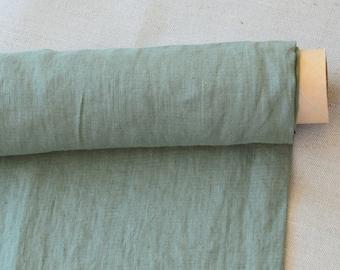 100% pure thin linen fabric. Kentucky green,  medium weight -/+210 m2, clothes linen