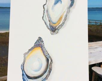 Original Watercolor Oysters