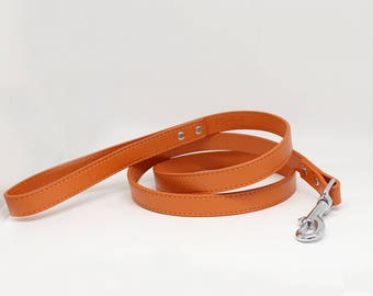Apricot Orange dog Leash, Pet accessory, Apricot Orange Leather leash,  Dog Lovers, Dog Leash, Wedding dog accessory, Custom leash