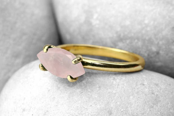 SALE Rose quartz ringgold ringgold filled ringsolid gold