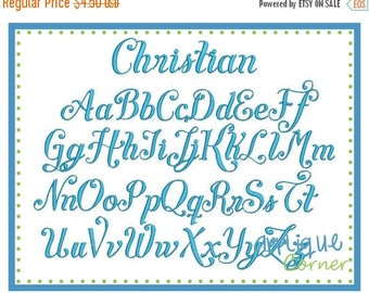 50% Off INSTANT DOWLOAD Christian 2931 Font bx, jef, pes, vp3 and dst only digital design for embroidery machine by Applique Corner