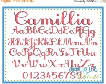40% OFF INSTANT DOWLOAD 2558 Camillia Font in bx, jef, pes and dst only digital design for embroidery machine by Applique Corner
