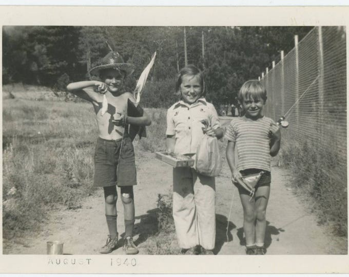 Day's Catch, 1940: Vintage Snapshot Photo [81638]