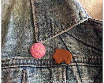 Concha Puerquito Pan Dulce Fashion Pin Set.
