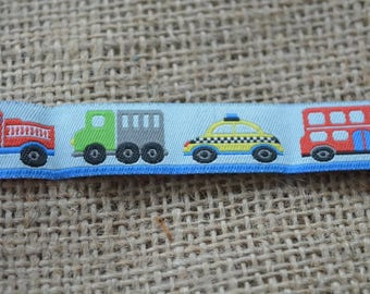 Dog Collar and Leash by Floral Pooch - 121 Buses Trucks Emergency Vehicles