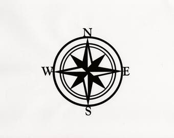 Compass Wall Decor, Nautical Compass,Wall Art, Nautical Metal Wall Art, Nautical Rose, Outdoor Metal Art, Compass Wall Hanging, Beach Decor