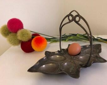 Vintage EGG PLATTER, Regency, Romantic, Breakfast Platter, Egg Platter, Egg Platter with Handle, 6 Eggs, Regency Serving at Ageless Alchemy