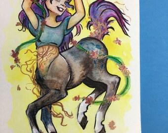 "Original Artwork ""Kicking up Her Heels"""