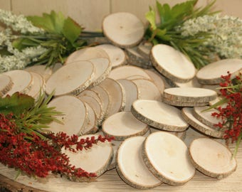 """Maple Wood Slices 135 Quantity 2-3""""-COMPLETELY Dried and Sanded Wood Blanks- Name Tags-Wedding Decor-Free Drilling Offered (MT:1)"""