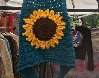 Sunflower Crochet Halter Crop Top