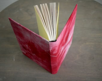 "Upcycled Hardcover Notebook ""Red Cinderella"" from Letterpress Ink Rags"