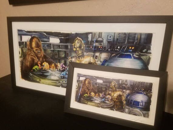 """Star Wars A New Hope - Let the Wookiee Win """" Poster Print"""